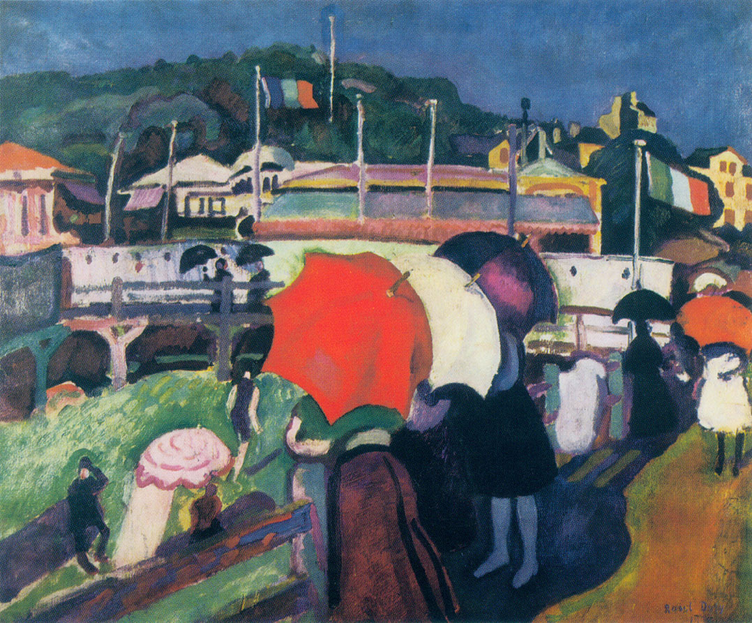 """Three Umbrellas,"" by Raoul Dufy, 1906"