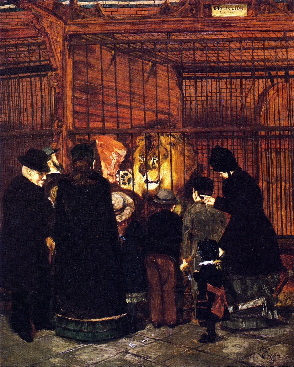 """Pomp At The Zoo,"" 1880 by Henry Ossawa Tanner"