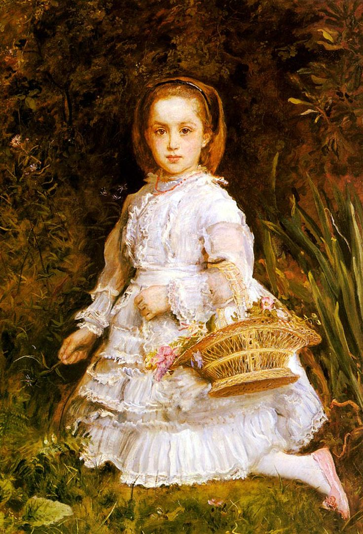 """Portrait of Gracia Lees,"" by John Everett Millais, 1875, clearly demonstrating his looser brush style."