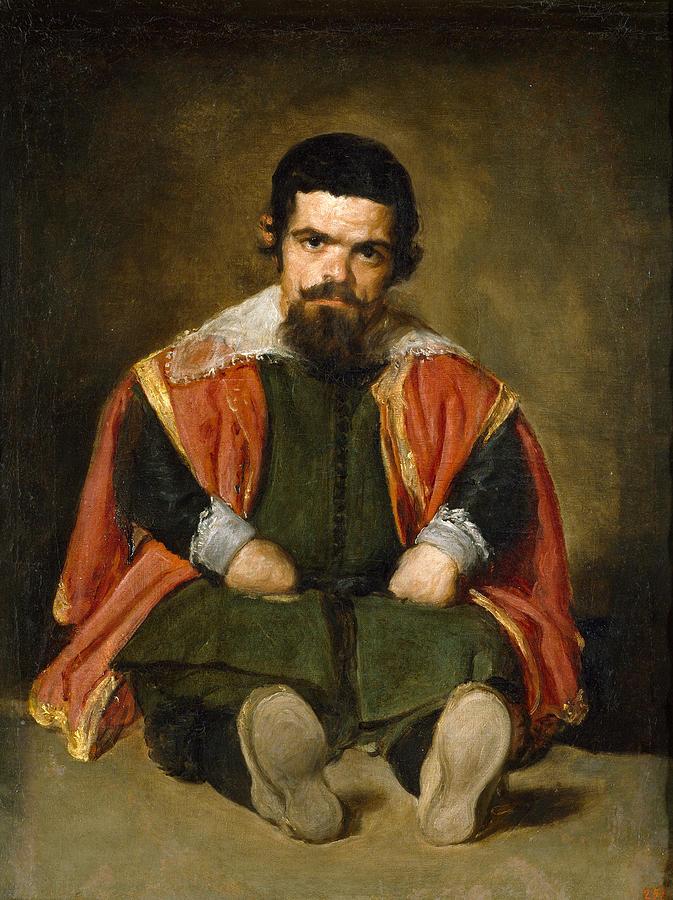 """""""Portrait of Sebastian de Morra,"""" by Diego Velázquez, c. 1645"""