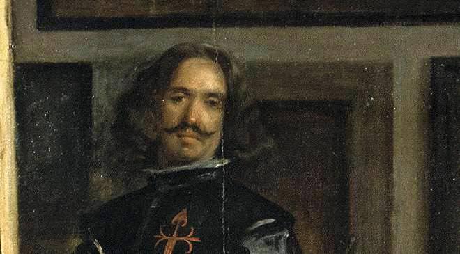 """Detail from """"Las Meninas,"""" Diego Velázquez Self Portrait"""