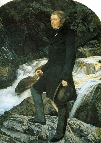 The portrait of John Ruskin, by John Everett Millais, that was to alter the course of Millais' life.