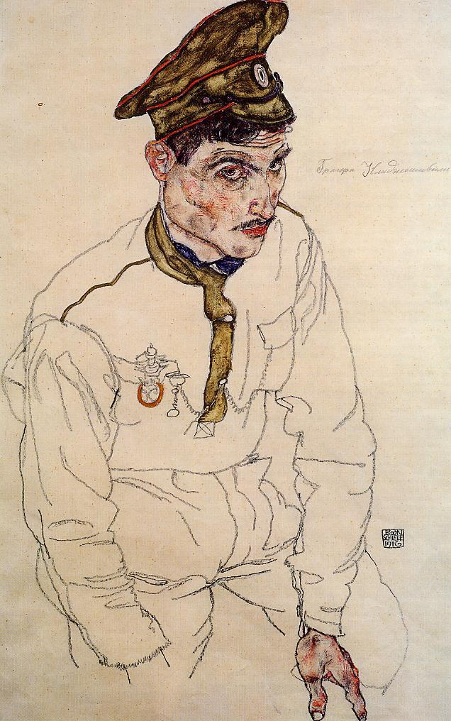 """Russian Prisoner of War (Grigori Kladjishuli),"" by Egon Schiele"