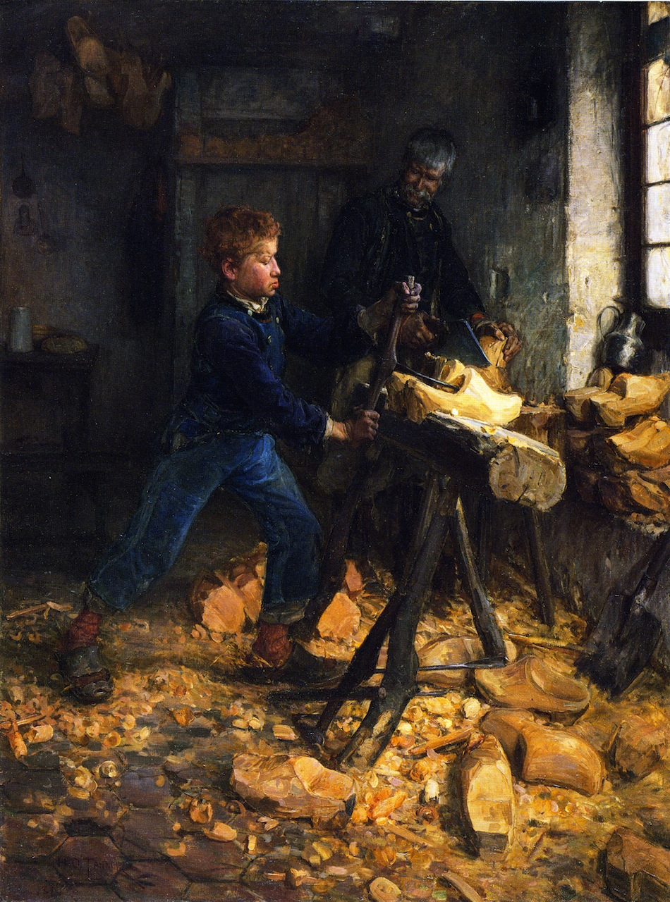 """The Young Sabot Maker,"" 1895 by Henry Ossawa Tanner"