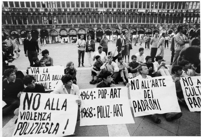 Student protest, Venice, 1968