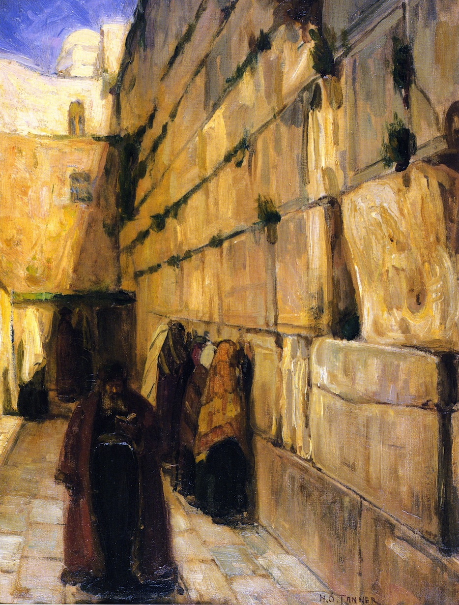 """Study Of Jews At The Wailing Wall,"" 1897 by Henry Ossawa Tanner"