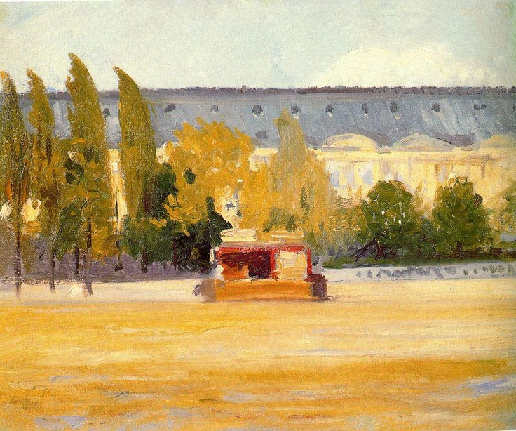 """Louvre And Boat Landing,"" 1907"