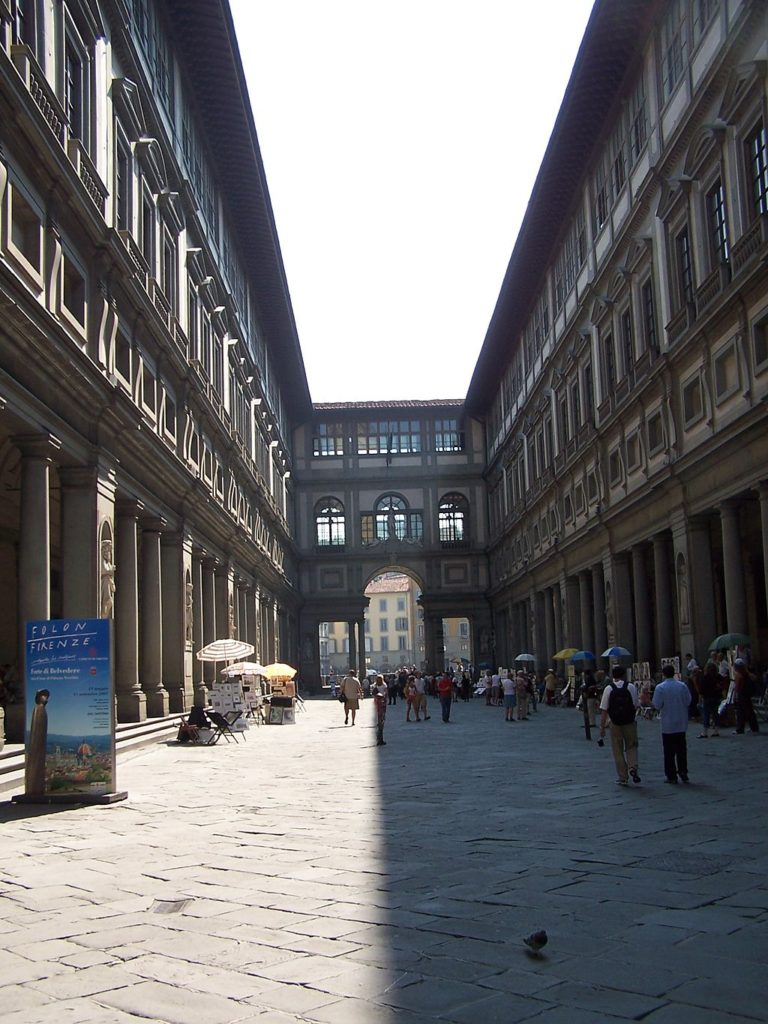 The loggia at the Uffizi, Florence, Italy