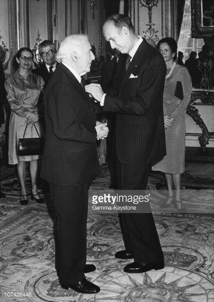 Marc Chagall receives the Legion of Honor Medal, 1977