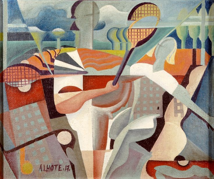"""Tennis Players,"" 1917"