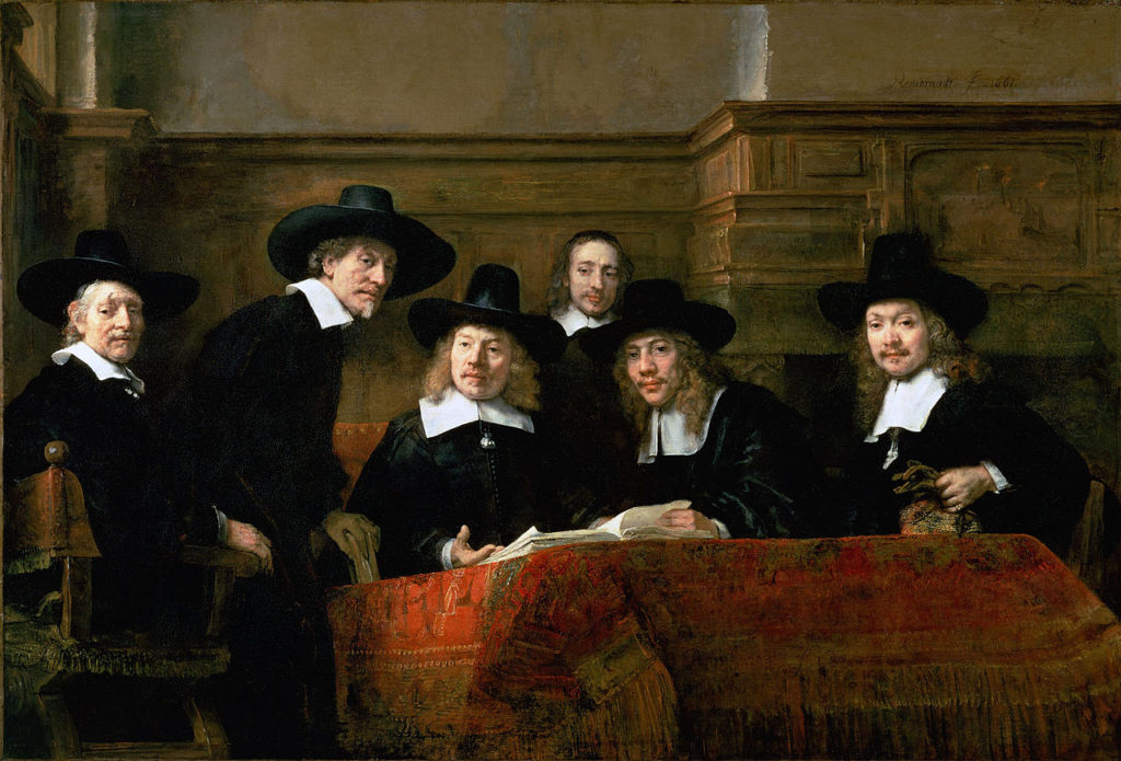 """De Staalmeesters - The Clothesmakers Guild,"" 1662"