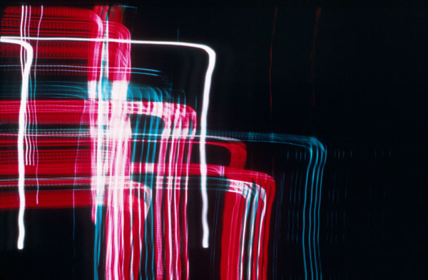 Untitled photograph, experiment with open shutter and color, 1939