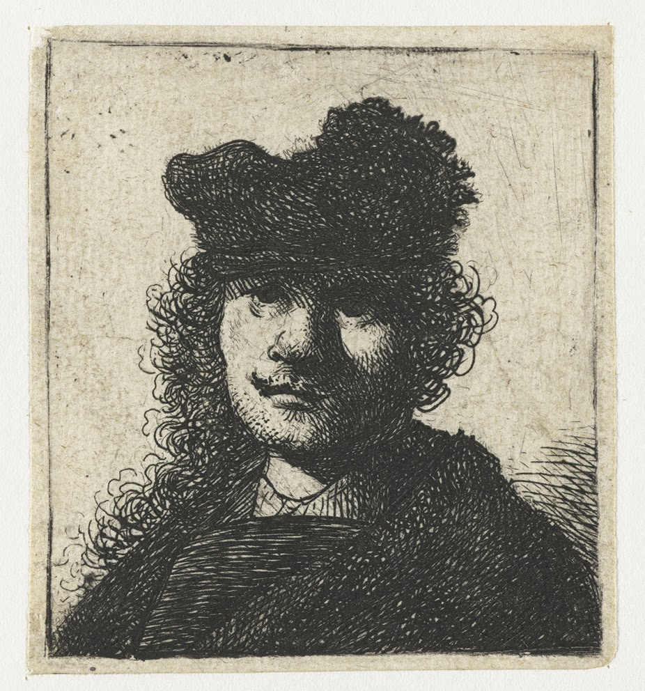 Self Portrait, etching, 1625