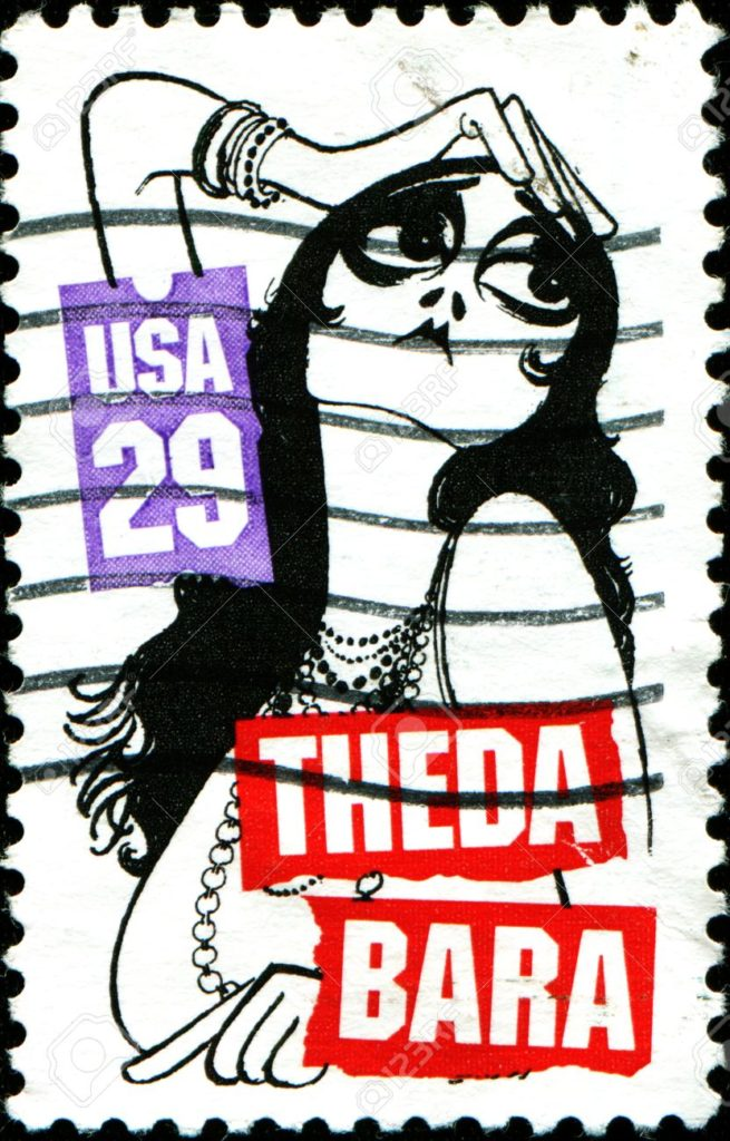 18798662-USA-CIRCA-1994-A-stamp-printed-in-United-States-of-America-shows-Theda-Bara-silent-film-and-stage-ac-Stock-Photo