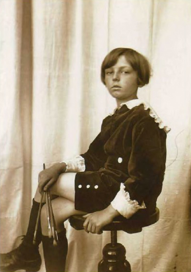 Jiri Mucha, 1925, models for one of his father's photographic studies