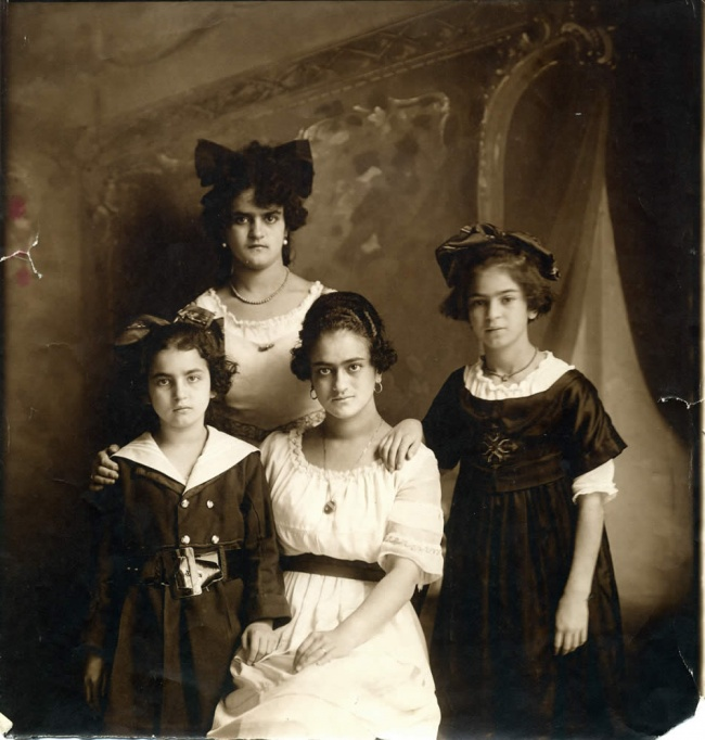 The Kahlo sisters (clockwise from left: Cristina, , Frida, )