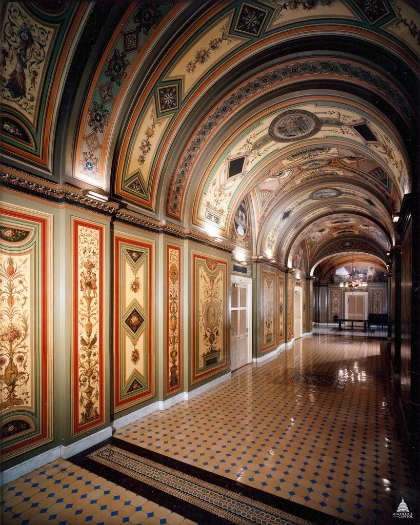 One view of the Brumidi Corridors