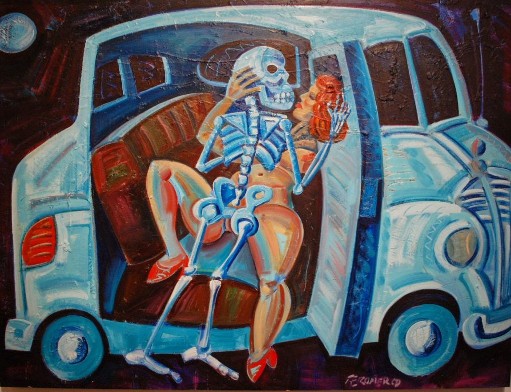 654 Back Seat Dodge - Homage to Kienholtz by Frank Romero, 1991
