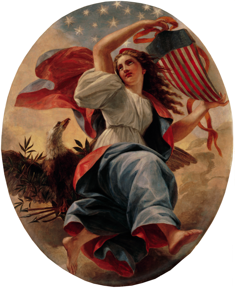 """""""Union,"""" hangs in the entrance hall of the White House, Washington, DC"""
