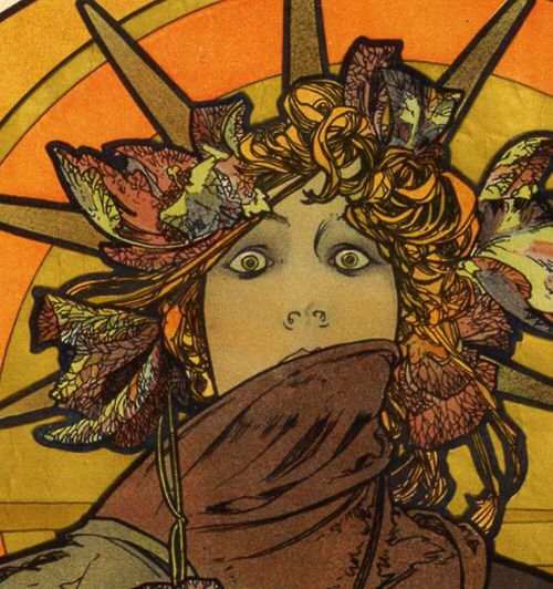 "Detail from the publicity poster for Sarah Bernhardt's ""Medee,"" 1898"