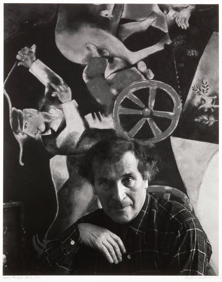 Marc Chagall shortly after arriving in New York, 1941