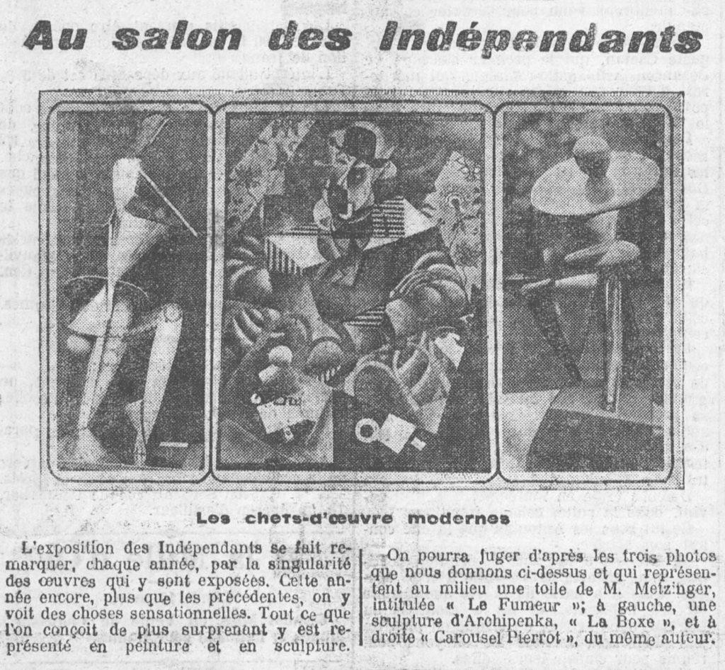 13 March 1914,  publicity for the Salon des Indépendents in Paris