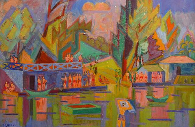 """""""Baigneurs,"""" example of Lhote's Fauvist style"""