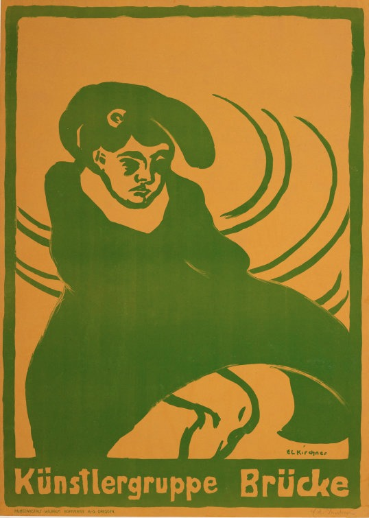 Poster for an exhibition by Die Brücke, 1907