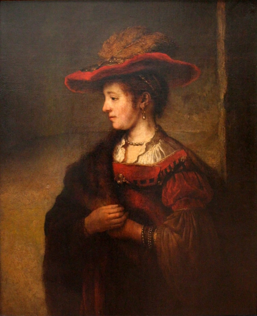 """Saskia In A Red Hat,"" 1635"