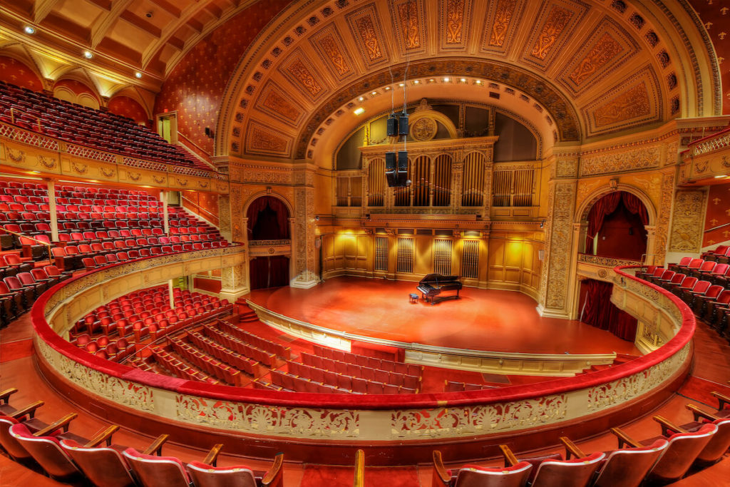 The beautiful interior of Carnegie Hall in New York, the setting of Florence Foster Jenkins final performance