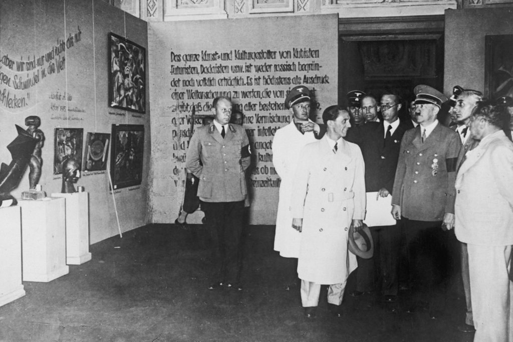 "1937's ""Degenerate Art"" exhibition in Munich"