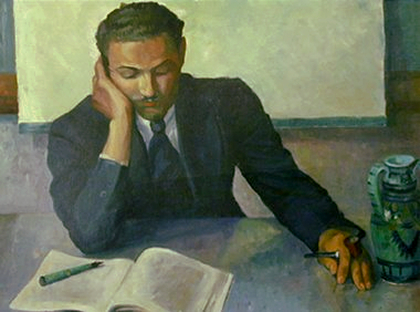 """Young Man Studying (Portrait of Langston Hughes),"" 1932"