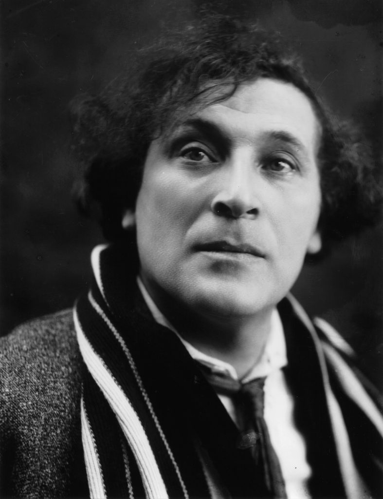Marc Chagall in 1920 (photo by Pierre Choumoff)