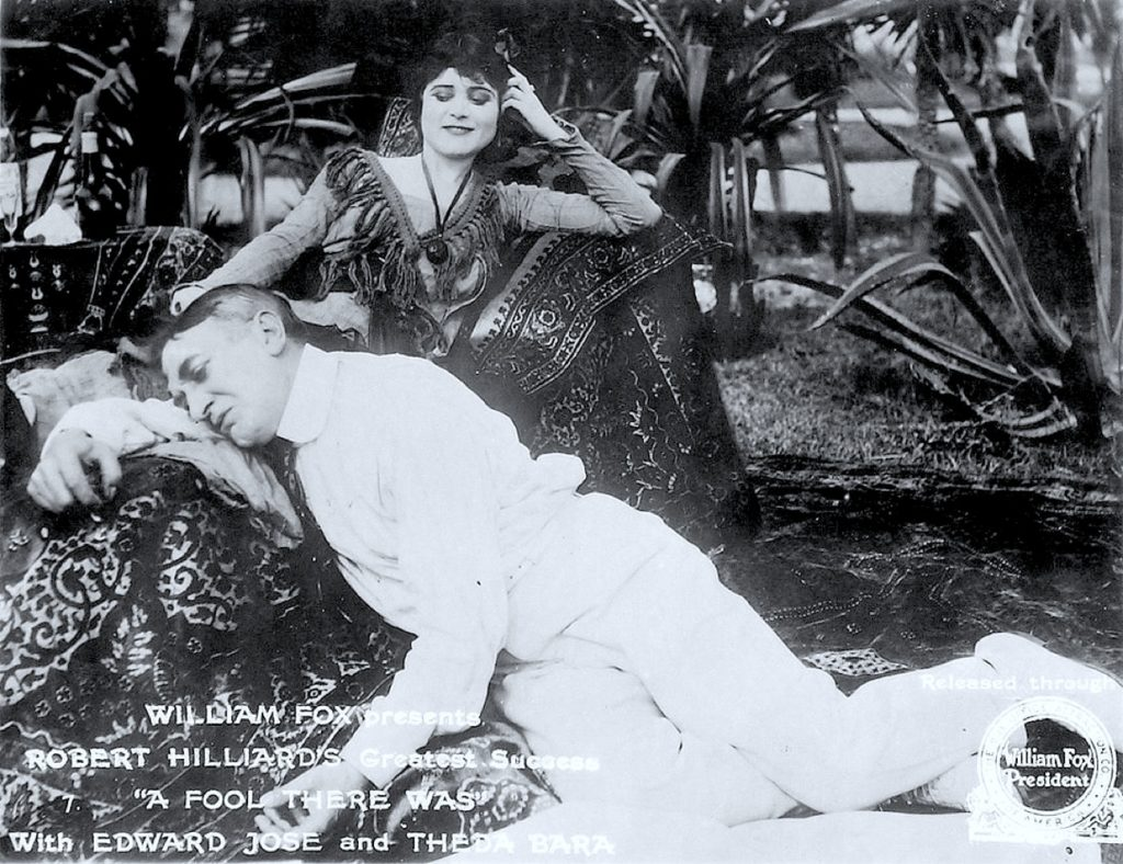 "Publicity still for the film ""A Fool There Was,"" with Theda Bara and Edward Jose, 19"