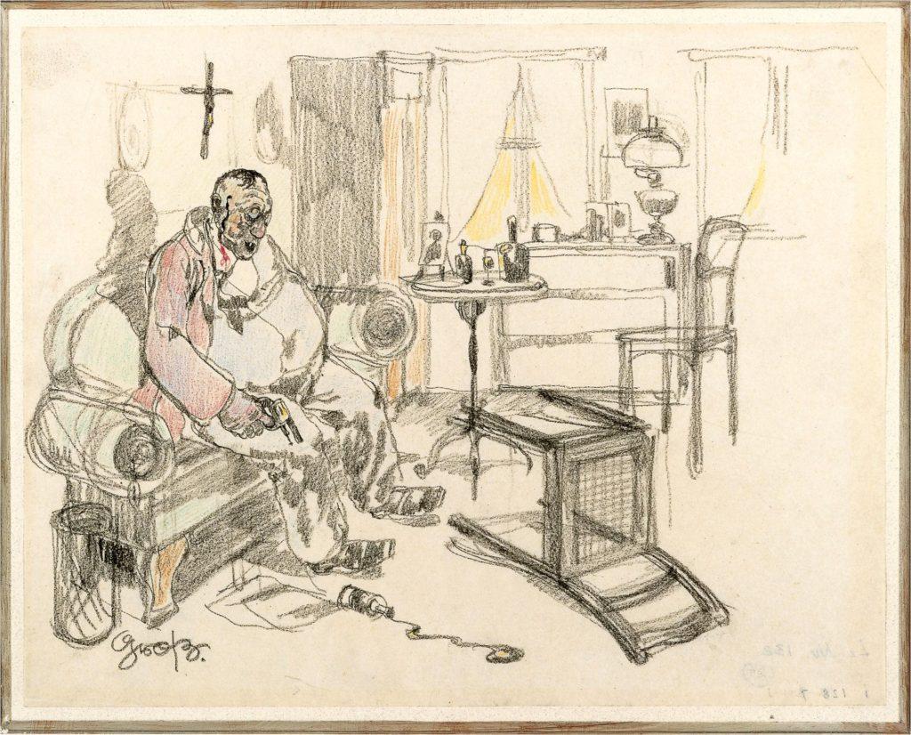 """""""Selbstmörder (Suicide),"""" 1912"""