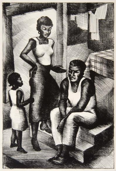 "One of Wilkerson-Brown's most famous works, ""Family,"" 1940"
