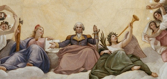 "Detail from the finished ""Apotheosis Of George Washington"" 18"
