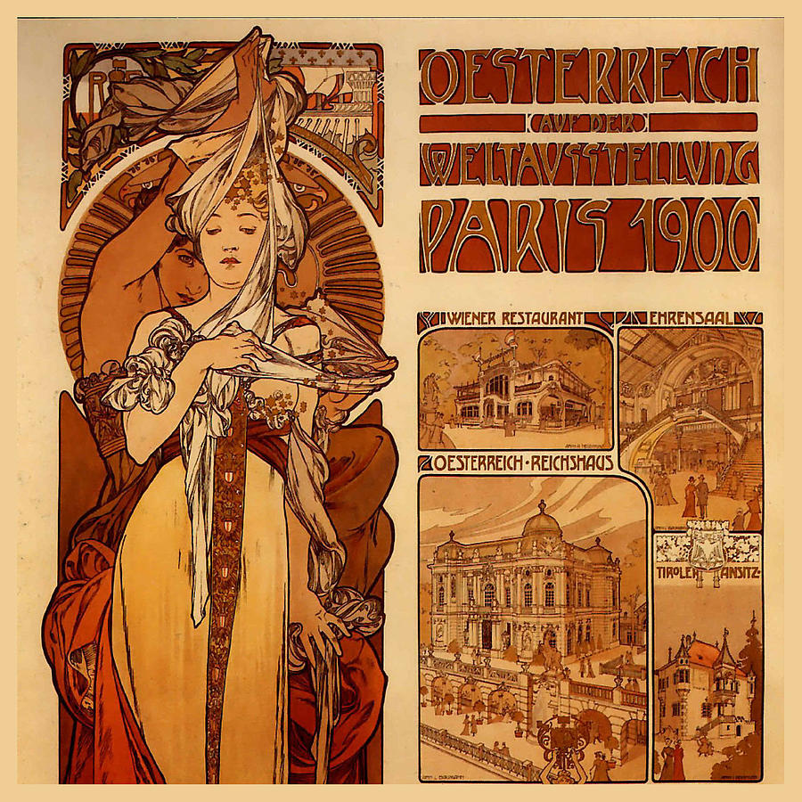 Poster for the Austrian exhibition at the Exposition Universelle, Paris 1900