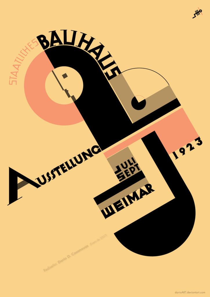 Bauhaus publicity poster, 1923