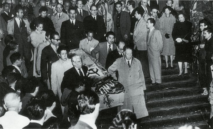 Frida's funeral, July, 1954