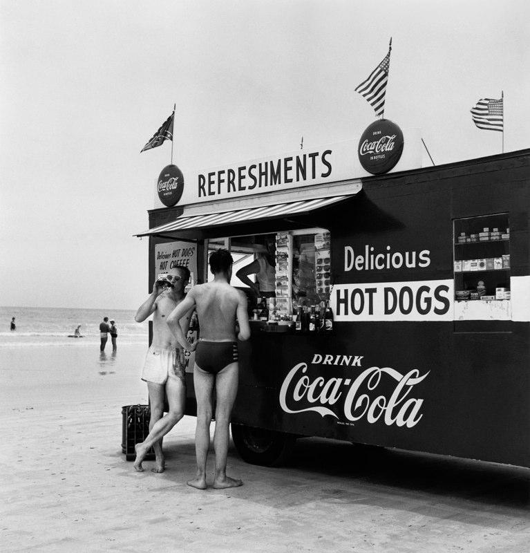 """""""Refreshment Stand,"""" Daytona Beach, Florida, 1954"""