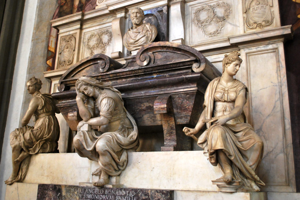 Detail of Michelangelo's tomb