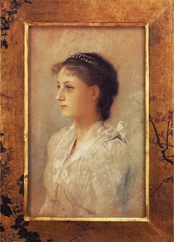 """Portrait of Emelie Floge,"" 1891"