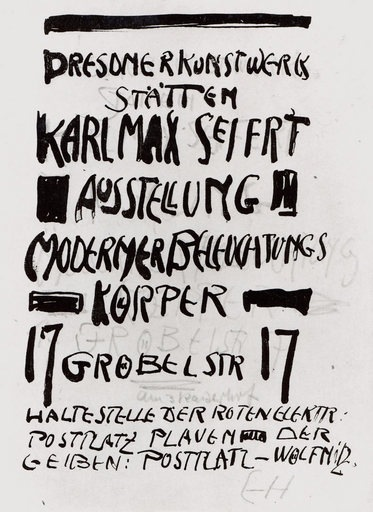 Though the final poster is no longer available, the Tate Gallery in London has Heckel's original draft for the text