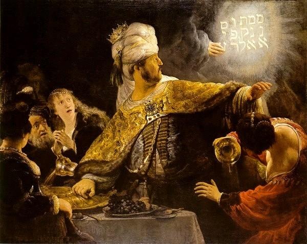 """""""Belshazzar's Feast,"""" 1637"""