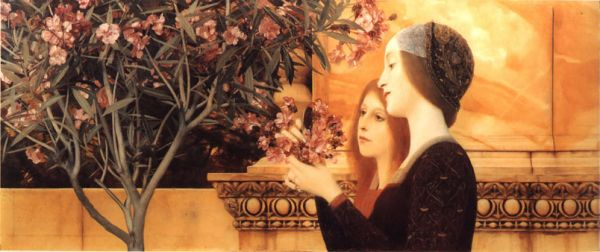"""Two Girls With An Oleander,"" 1890-92"