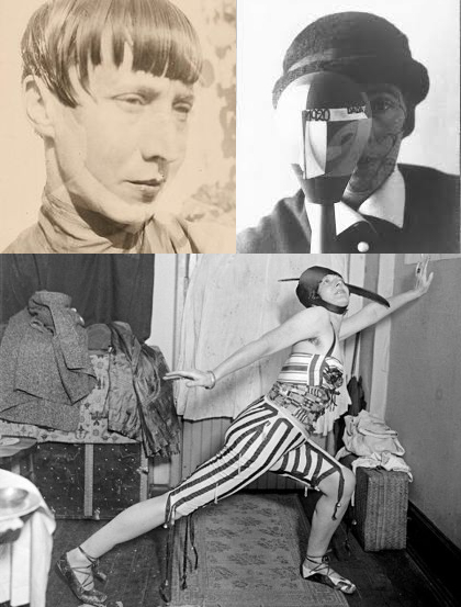 (clockwise from upper left) Hannah Höch, Sophie Tauber-Arp, Baroness Elsa von Freytag-Loringhoven - three of the examples of women artists of the early 20th century that changed the course of art - and one Lady in particular, was to change the course of Duchamp's life in a way he could not have imagined
