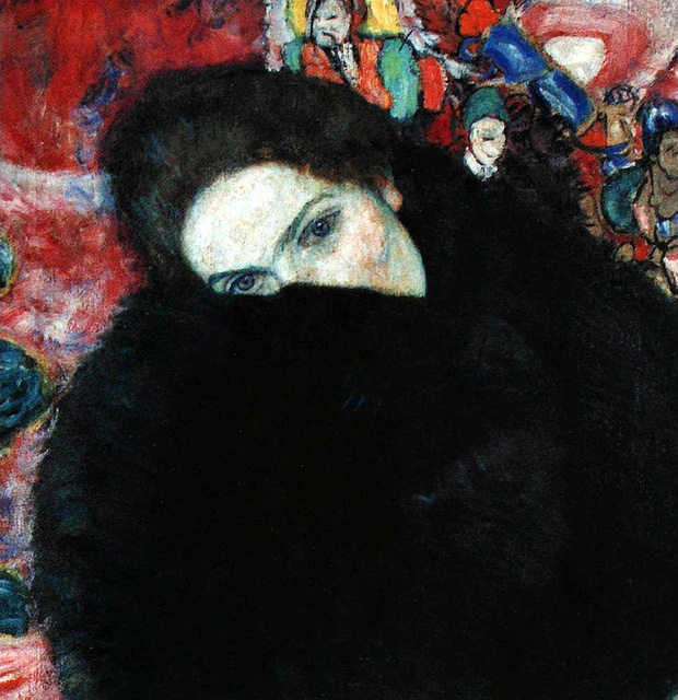 """""""Woman With A Muff,"""" 1916"""