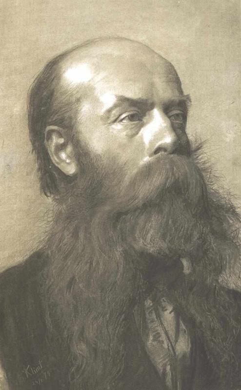 Portrait of Klimt's father, Ernst Sr.,