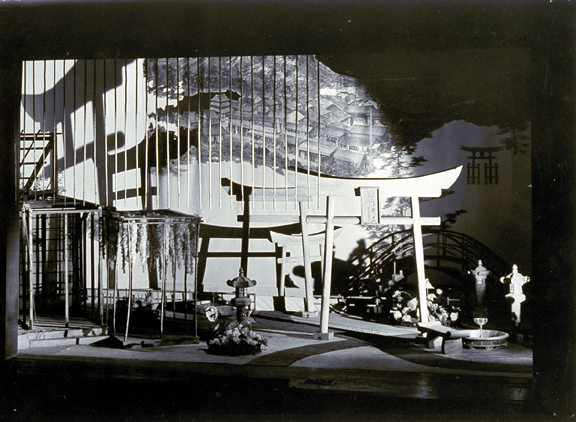"Stage design, 1930, for ""Madame Butterfly"""